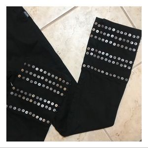 MOSCHINO // Black Metal Jeans
