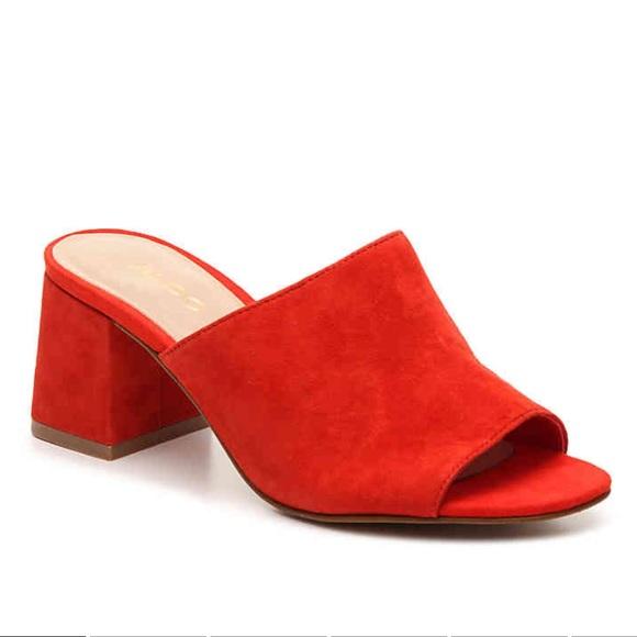 656d2fce09909 Aldo Shoes | Red Slide Resplandina Sandals New | Poshmark