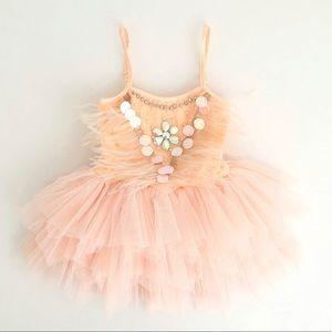 Girl ballerina dress,blush pink dress, tutu dress