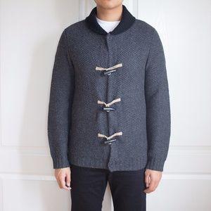 Men's C.P.O Provisions Medium Grey Toggle Cardigan