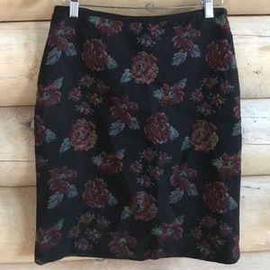 Nicole Miller Floral Pencil ✏️ Skirt