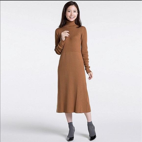 90d20a5985 Uniqlo turtleneck black sweater dress. M 59fe5031b4188e70f80a5c49