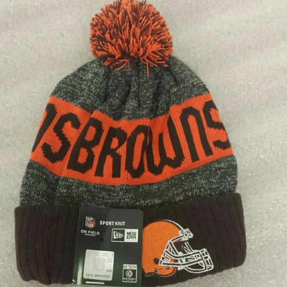 153bf758 Cleveland Browns beanie knit winter team hat NWT