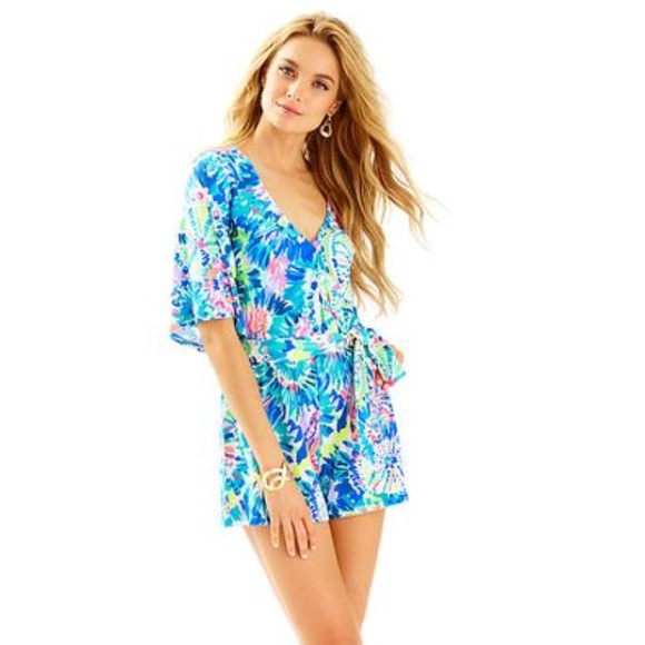 dfa5a2ce6432 Lilly Pulitzer Madilyn Romper in Dive In. NWT