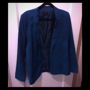 Teal/Turquoise Silky Blazer Sz L