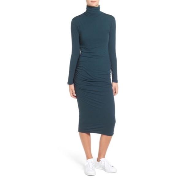 acbd44b1a217 NWT Standard James Perse Turtleneck Midi Dress