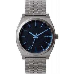 Time teller nixon gunmetal blue crystal nwt unisex