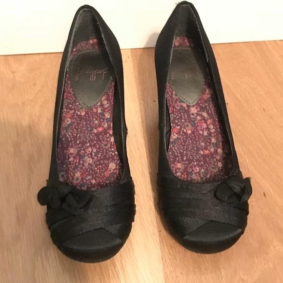 Ladies Jellypop Black Dress Shoes Heels