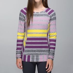 Lululemon Race Your Pace Stripe Berry Yum 8