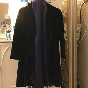 Black Suede Long coat