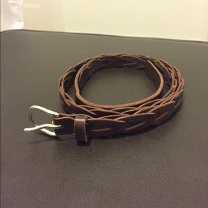 Gap brown woven belt