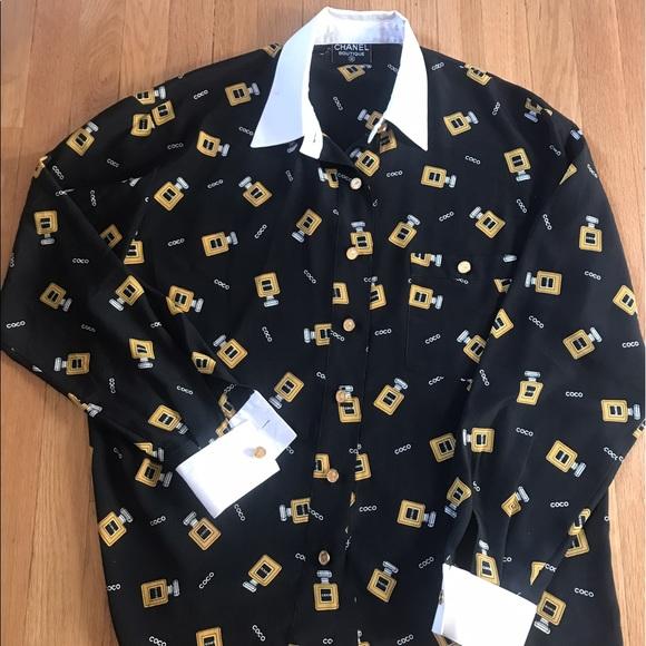 e3b67efbdf56f CHANEL Tops - vintage coco Chanel blouse