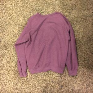 Plain purple sweater