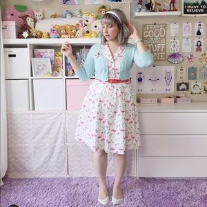 Modcloth Dresses - It's An Inspired Taste Dress in Flamingos