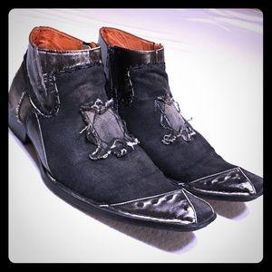 "Men's ROBERT WAYNE ""Morris"" Leather/Denim Boots"