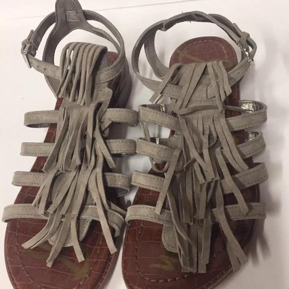 bc3dff1168755 Sam Edelman Estelle Putty Suede Gray Sandals 8.5. M 59fe5ec8291a35820b0ac6f9