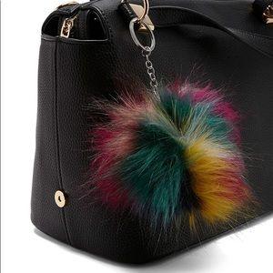 🌟SOLD/Colorful Faux Fur KeyChain/Purse Decoration