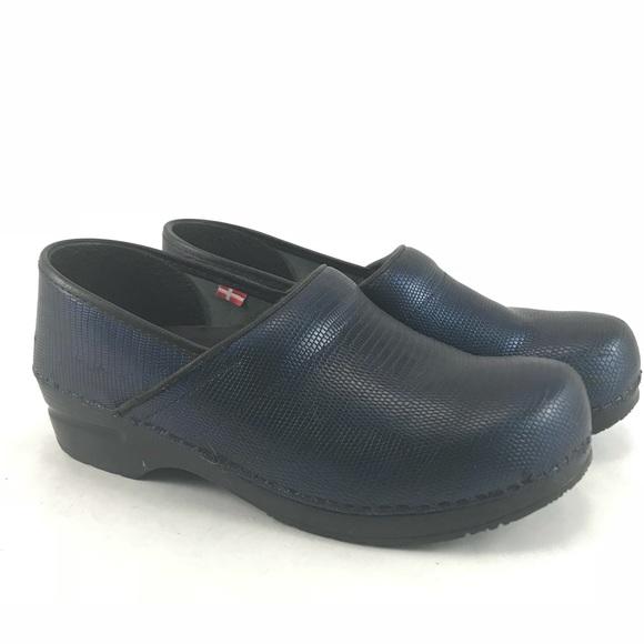 Clogs For Women Sanita Blue Mules Clogs Dekoa