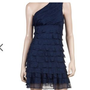Max studio tiered one shoulder dress