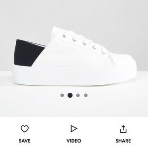 ASOS downtown lace up flatform sneakers