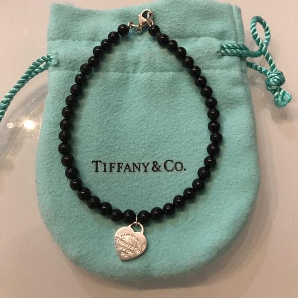 516e2714de05 Tiffany   co onyx bead bracelet black. M 59fe6ac16d64bc14ed0afa29
