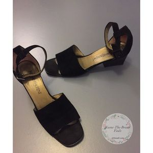 Yves Saint Laurent Women's 80's Ankle Strap Sandal