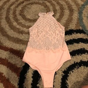 Other - Women's pink lace bodysuit