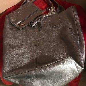 Handbags - Silver purse with coin purse