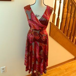 Paisley multi colored dress sz L