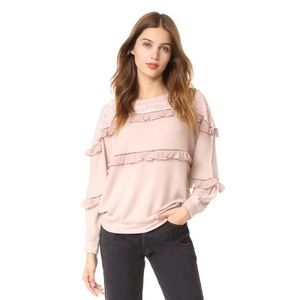 LOVE SAM ruffled pullover sweater