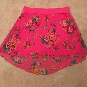 NWT! Aeropostale Hi Lo Floral Skirt