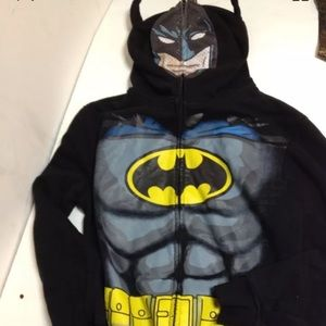 Batman mesh face mask hood full zip jacket XL