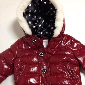 Red Gymboree rain coat jacket