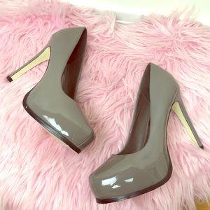 Grey Platform Stilettos