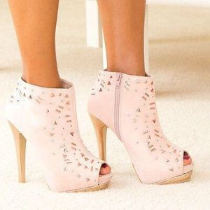 Mixx-betsy Nude Ankle boots booties