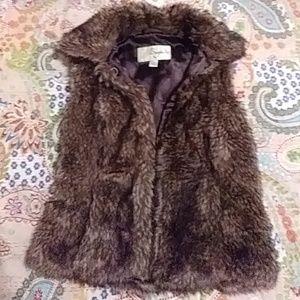Faux Fur Vest NWOT
