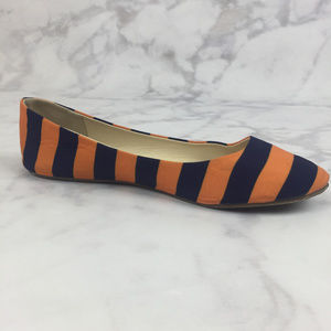 Lillybee Shoes - LillyBee U Blue & Orange Striped Ballet Flats!