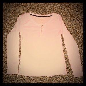 STEVE MADDEN baby pink long sleeve t-shirt
