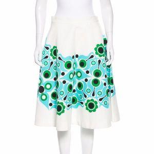 Kate Spade floral mandala print midi circle skirt.