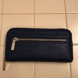Women's Dark Blue Suede Wallet