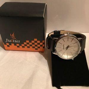 Julius Man Quartz Watch Silver and Black
