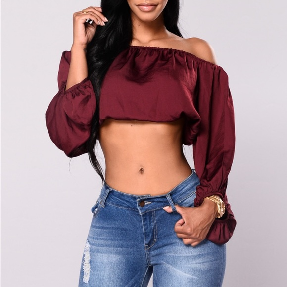 c0c2b311dc66d6 NEW Satin Crop Top Off Shoulder Bardot Sexy Boho S
