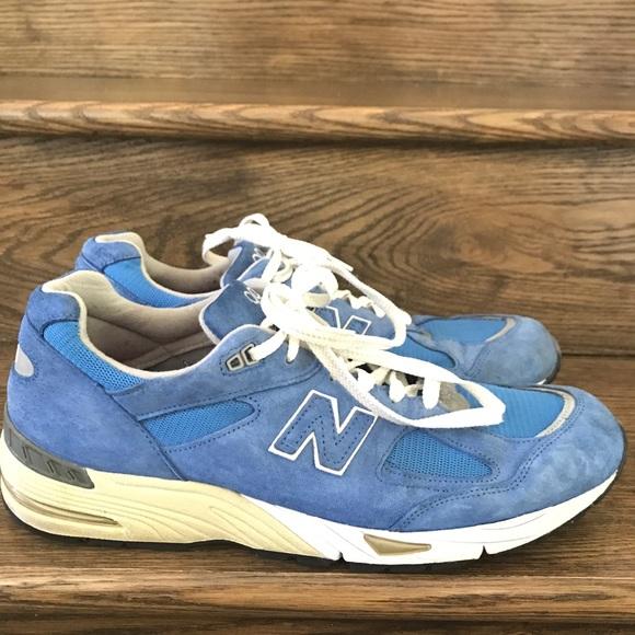 best cheap a6061 a716a Men's New Balance 990 Blue Running Shoes 13