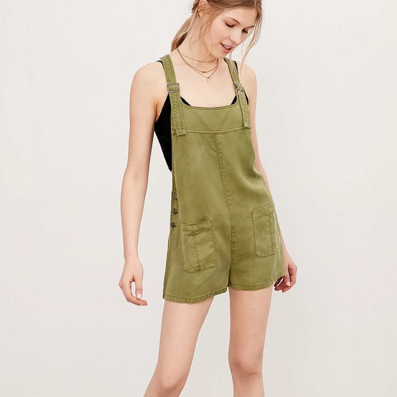 e492356432 Urban Outfitters Pants - Urban Outfitters BDG Nicki Overall Romper - Green