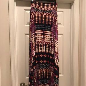 "Multicolored Maxi Skirt; 44"""