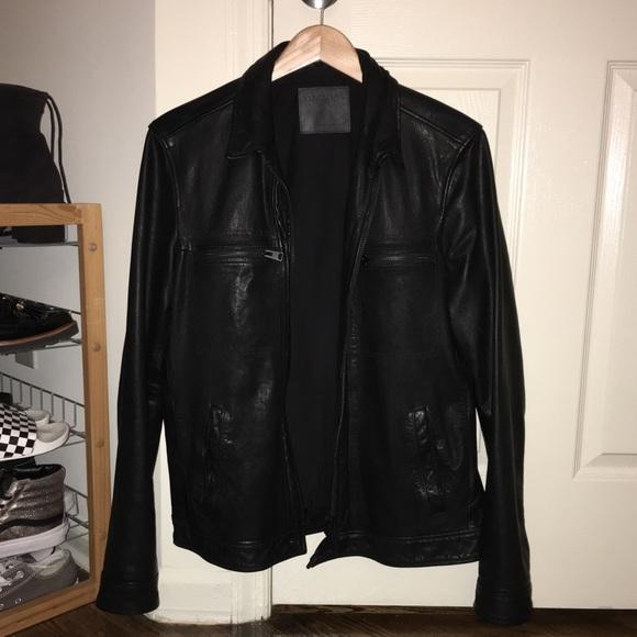 4858da47c7e AllSaints Lark men's leather jacket
