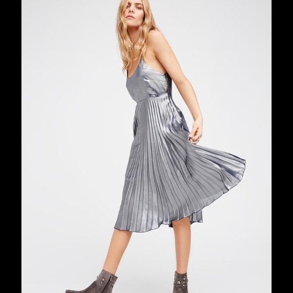Free People Dresses & Skirts - Free people mermaid metallic pleated dress