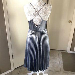 Free People Dresses - Free people mermaid metallic pleated dress