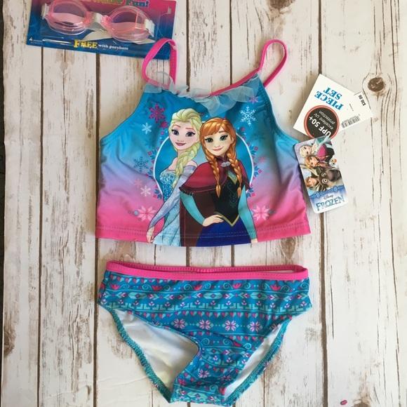 Blue 3 Swimwear Nwt Disney Store Frozen Elsa Swimsuit Swimwear Bathing Suit Upf 50