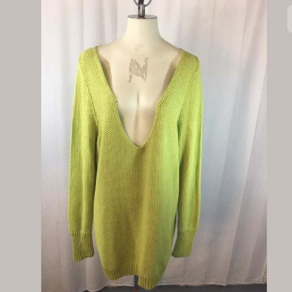2afc217b0e Lane Bryant Lime Green Thick Knit Oversize Sweater